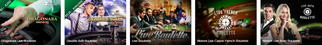 Olika Roulette spel hos livecasino