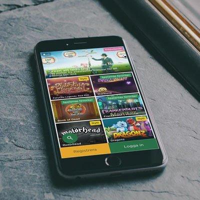 Mr Green casino visat på en mobil