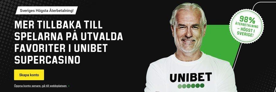 """Unibet casino reklam med """"Sveriges högsta utbetalning"""""""