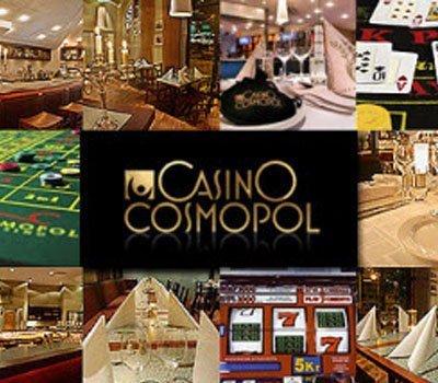 Casino Cosmopol logo och bilder från casinoanläggningen