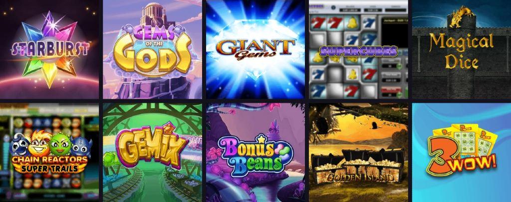 Överblick över några tillgängliga spelautomater på Maria Casino