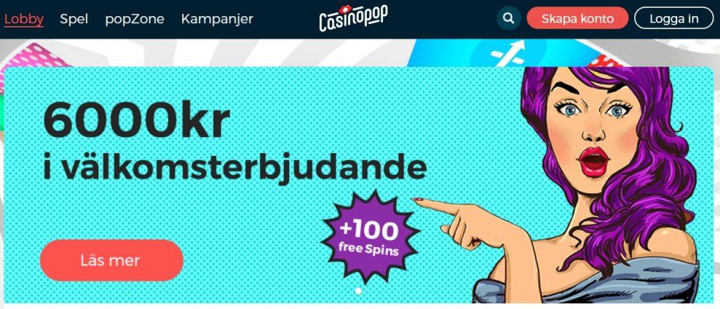 casinopop svenskt casino online