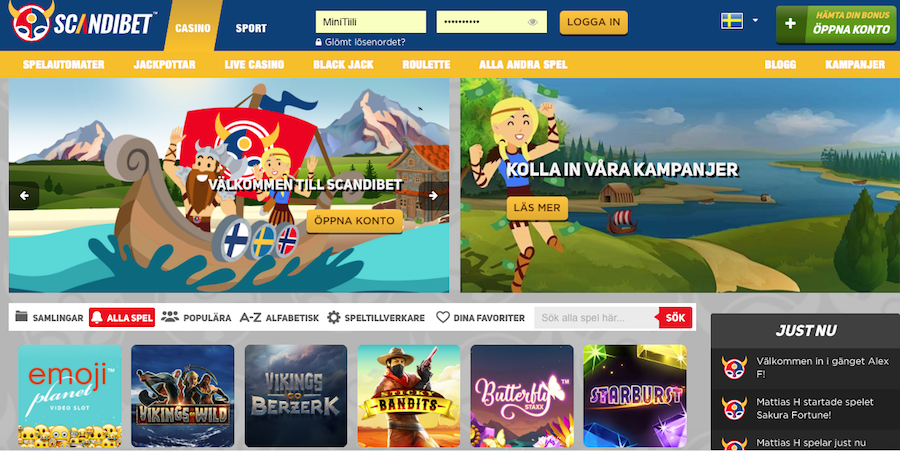 ScandiBet Casino spel