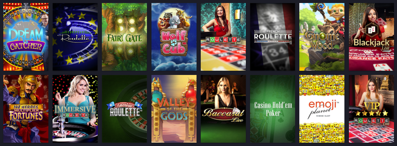 Spel hos Twin Casino