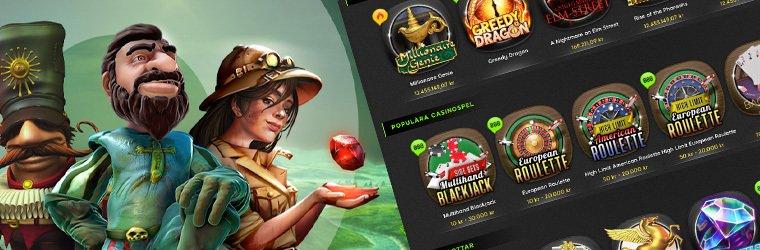 casinospel brevid olika känd spelkaraktärer som Gonzo från Gonzo's Quest