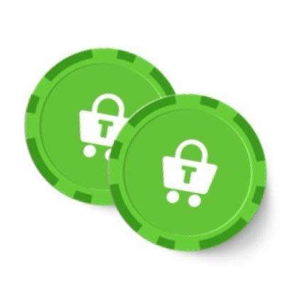 Trustly ikon på gröna spelmarker