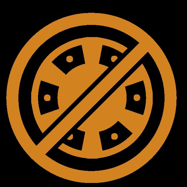 Logo för förbjud mot spel