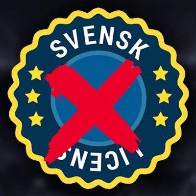 ingen svensk spellicens