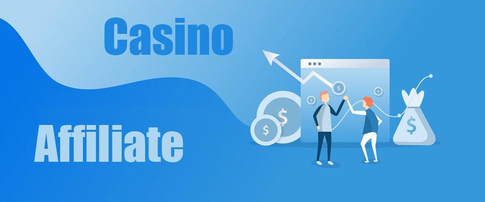 Casino affiliate banner med två personer som gör en highfive