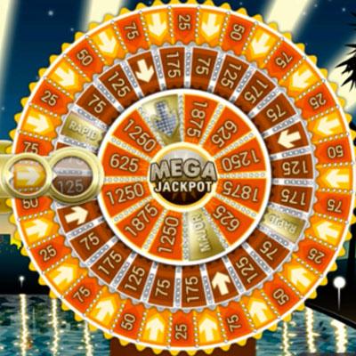 Mega jackpot-hjul från nano casino