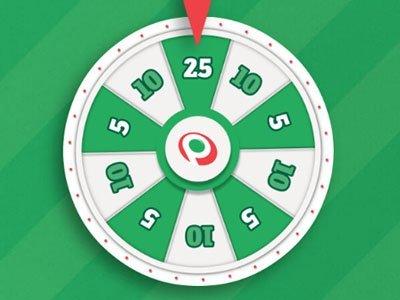 lyckohjul i grönt & vitt med paf-logon imitten