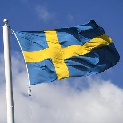 Svenska flaggan på en flaggstång