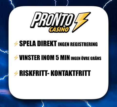 Pronto Casino text för att spela direkt, få vinster inom 5 minuter och riskfritt spelande