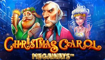 Christmas Carol Megaways logo och karaktärer