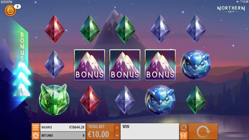 ikoner för bonusrunda aktiverad på spelautomaten Northern