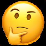 Funderande emoji