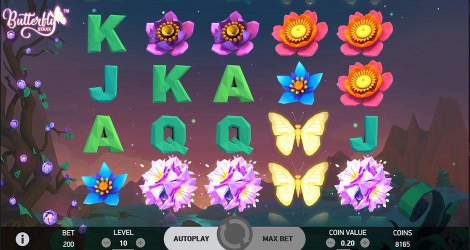 Spelplan för Butterfly Staxx 2