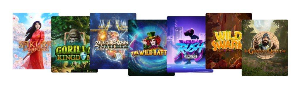 Några utvalda spel hos Kazoom casino