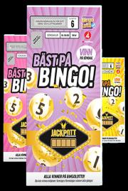 Lotter från Bingolotto med Bingo-tema
