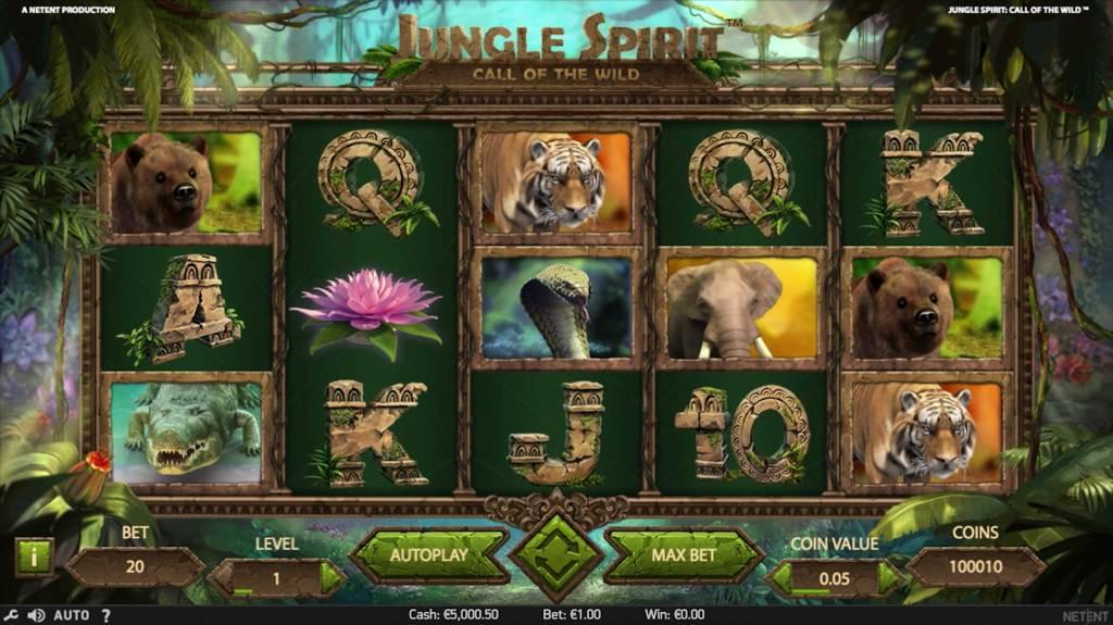 Jungle Spirit Call of The Wild spelplan