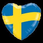 Ballong med svenska flaggan