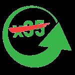 """Grön pil med texten """"x35"""" överstruket"""