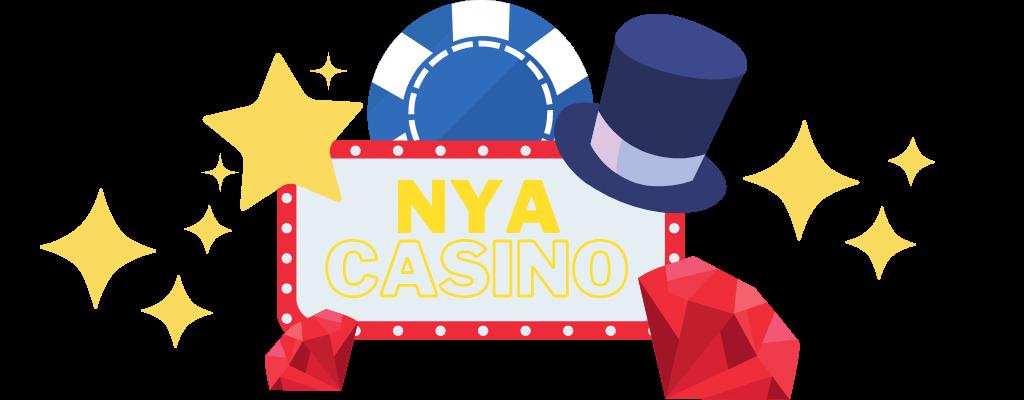 Nya Casino skyltat med spelmarker och diamanter